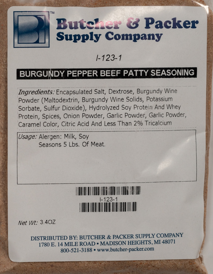 Burgundy Pepper Burger Seasoning